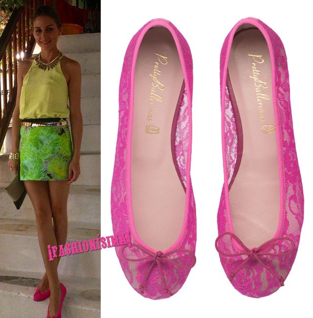Olivia Palermo no se quita de encima sus Pretty Ballerinas de encaje rosa