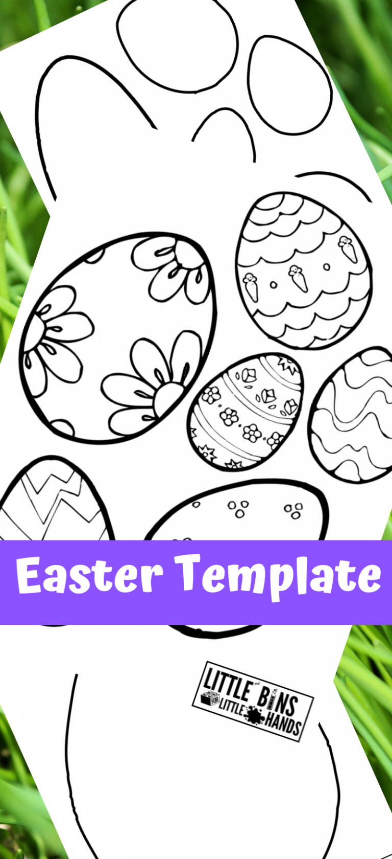 Easter Egg Template Free Printable Pack Easter Egg Template Egg Template Easter Templates