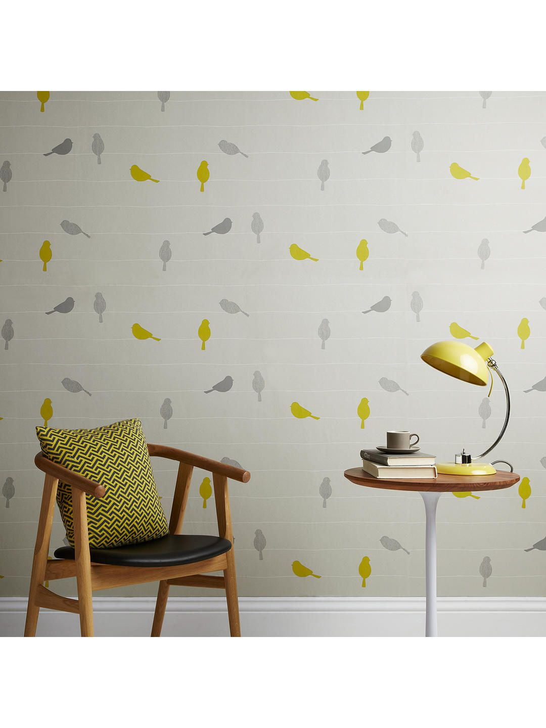 John Lewis Partners Bird On A Wire Wallpaper Smoke Wallpaper