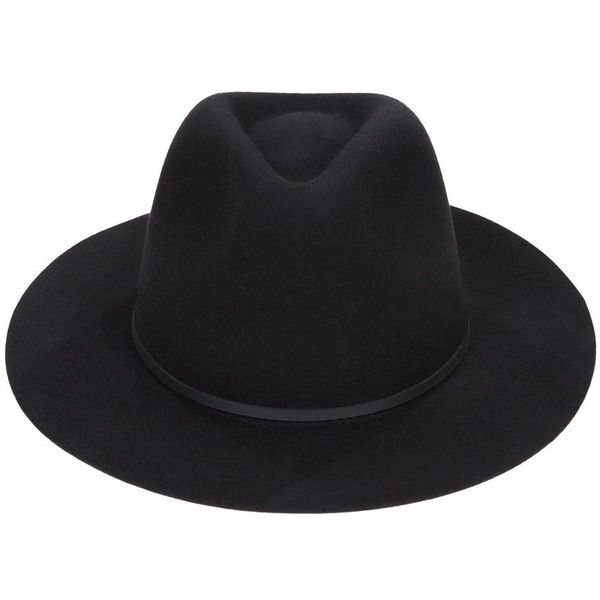 f84edad9e11f4 Brixton Wesley Fedora ( 58) ❤ liked on Polyvore featuring accessories