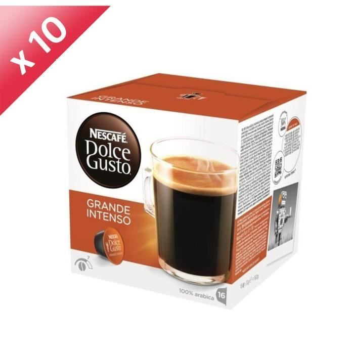 160 Capsules Dolce Gusto Grande Intenso 1 Capsule Dolce Gusto Torrefaction Du Cafe Et Cafe Decafeine