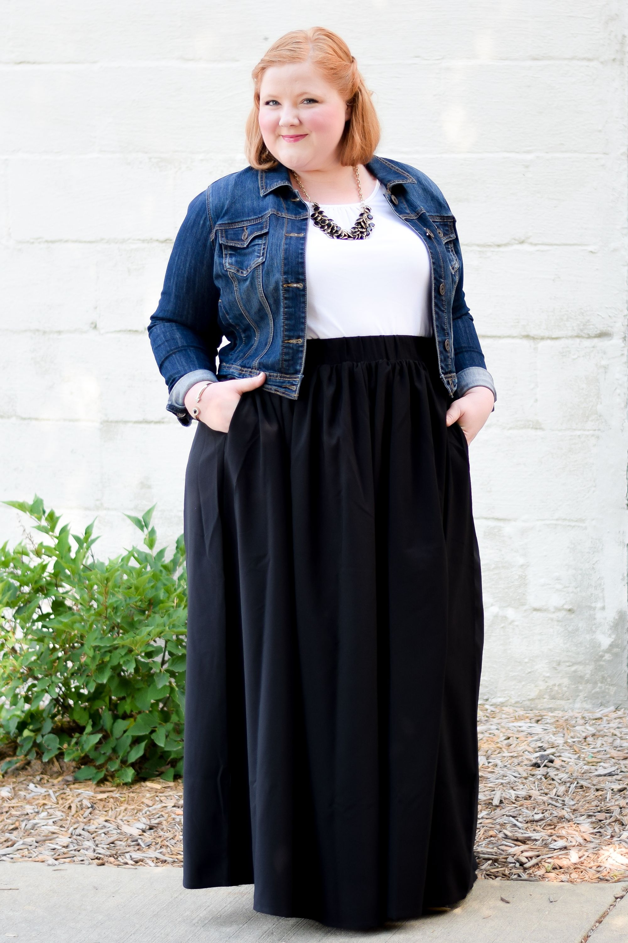 Fashion style Maxi black skirt outfit ideas for girls