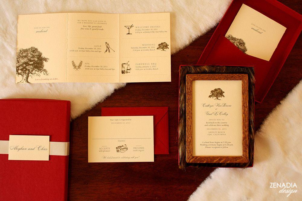 Cathryn gael zenadia design wedding invitations