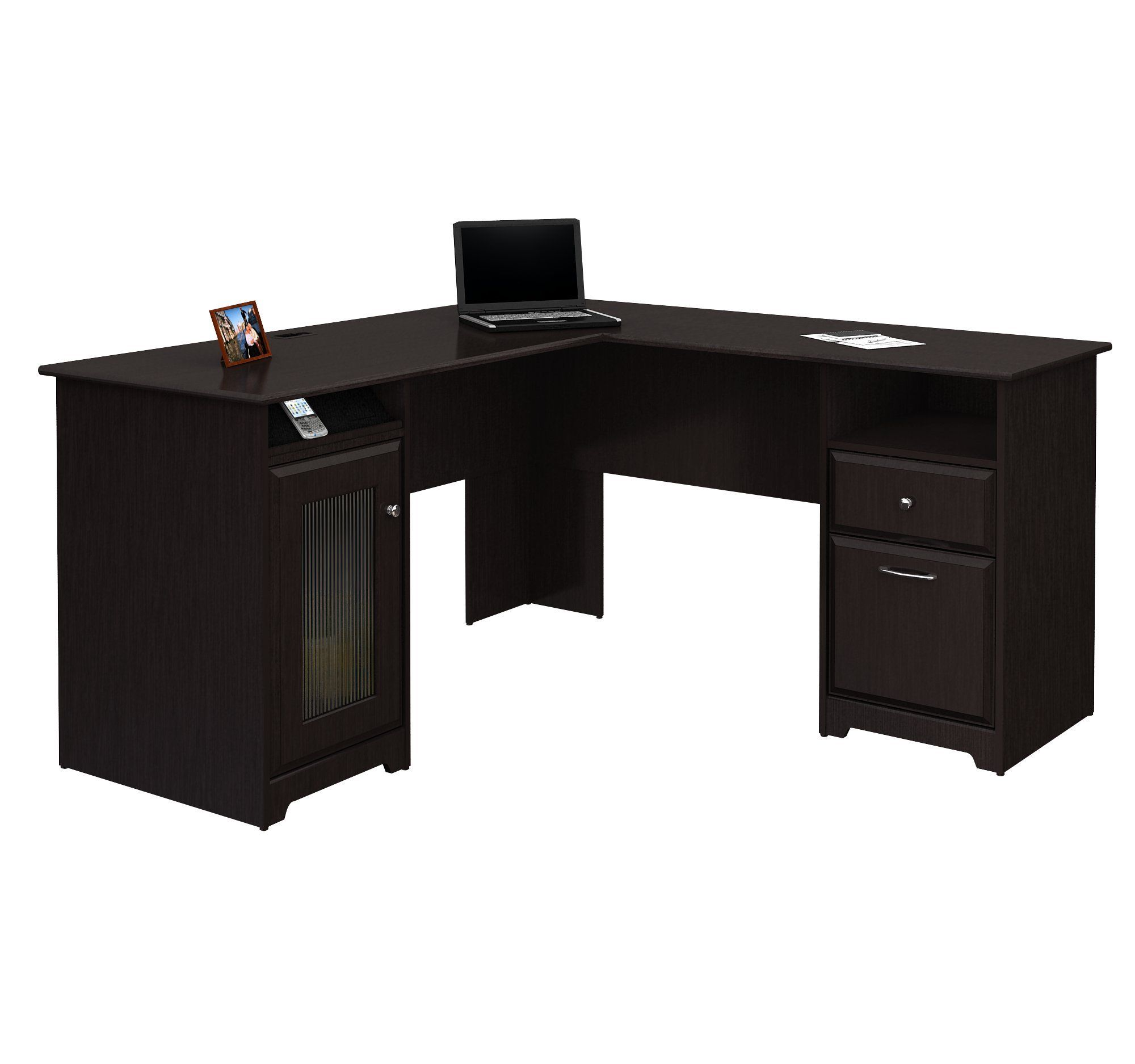Amazon.com   BUSH FURNITURE Bush Furniture Harvest Espresso OakCabot  Collection 60 Inch. Home Office DesksHome ...