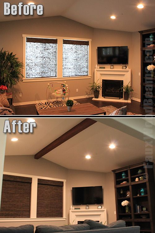 Multitasking Install Faux Wood Beams And Cook Faux Wood