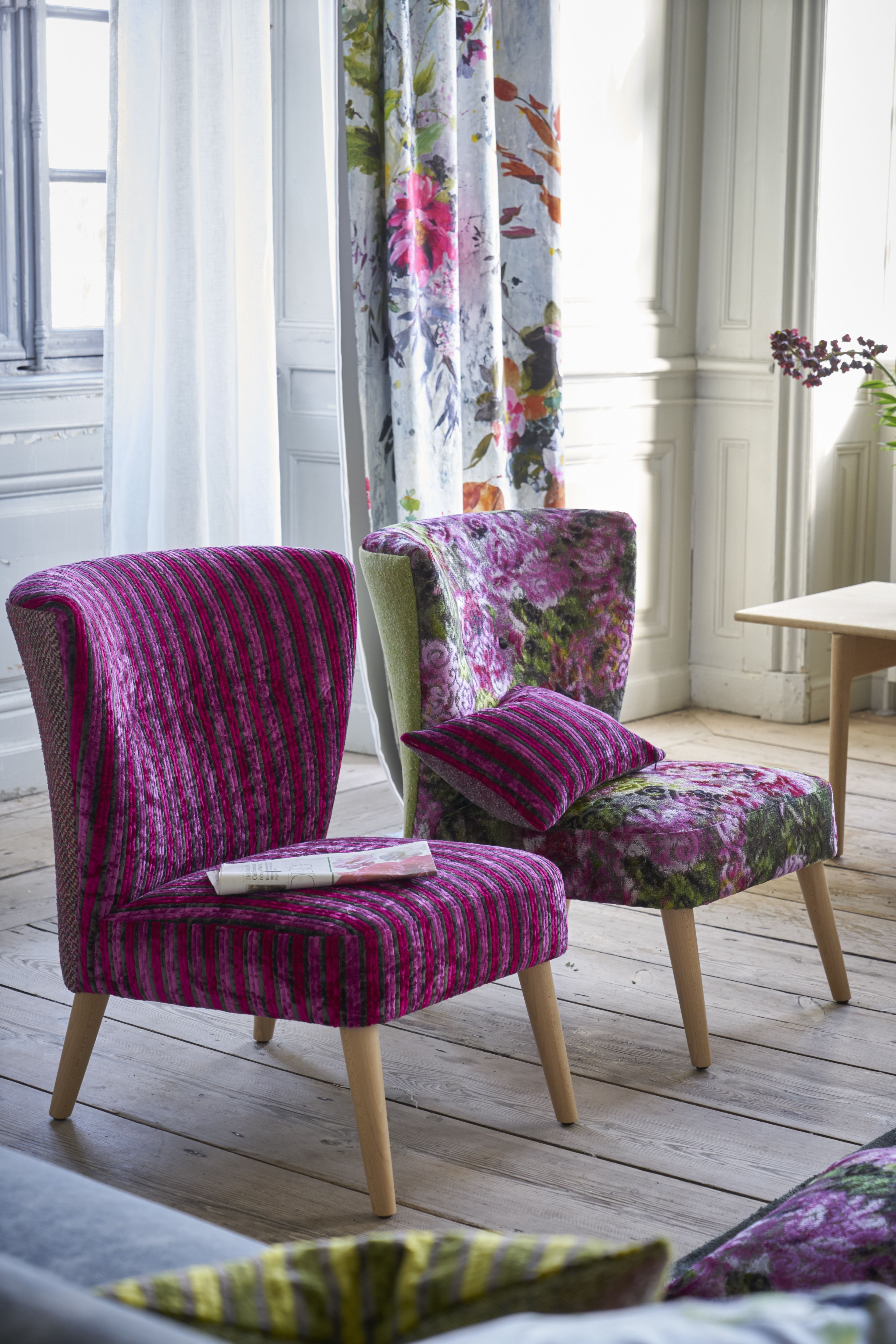 Designer Floral Chairs …Tricia Low And Guild Julep PukXZi