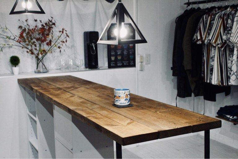 1万円でキッチンにおしゃれなカウンターテーブルをdiy ニトリのカラーボックスで作る方法 カウンターテーブル カウンターテーブル Diy テーブル