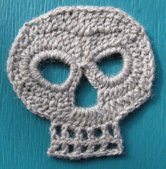 Skull Crochet | Crochet, knitting, etc. | Pinterest | Dia de las ...