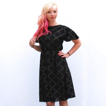 Zia Vintage: Metallic Diamond Dress, at 13% off! | fab.com