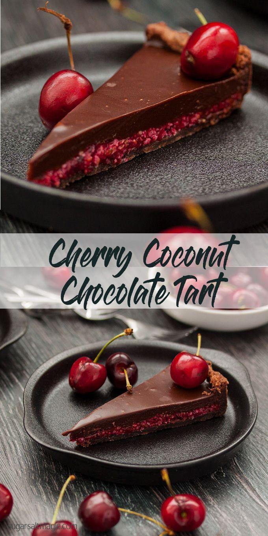 No-Bake Cherry Ripe Slice - only 15 minutes to make | Sugar Salt Magic