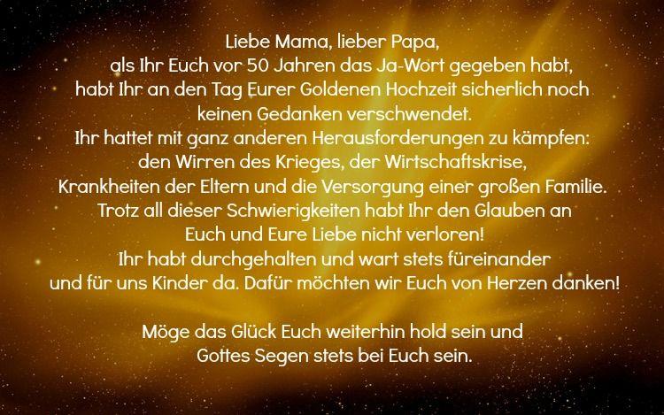 Spruche Zur Goldenen Hochzeit Eltern Mama Papa Gluck Lang Poetisch Spruche Zur Goldenen Hochzeit Goldene Hochzeit Gluckwunsche Zur Goldenen Hochzeit