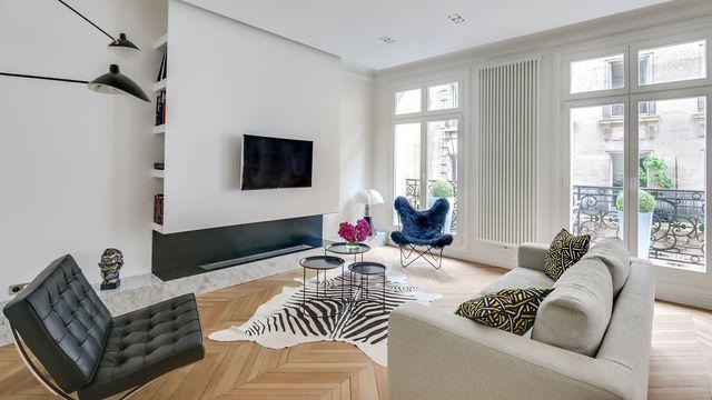 Avant-après appartement Paris 16  design et charme haussmannien