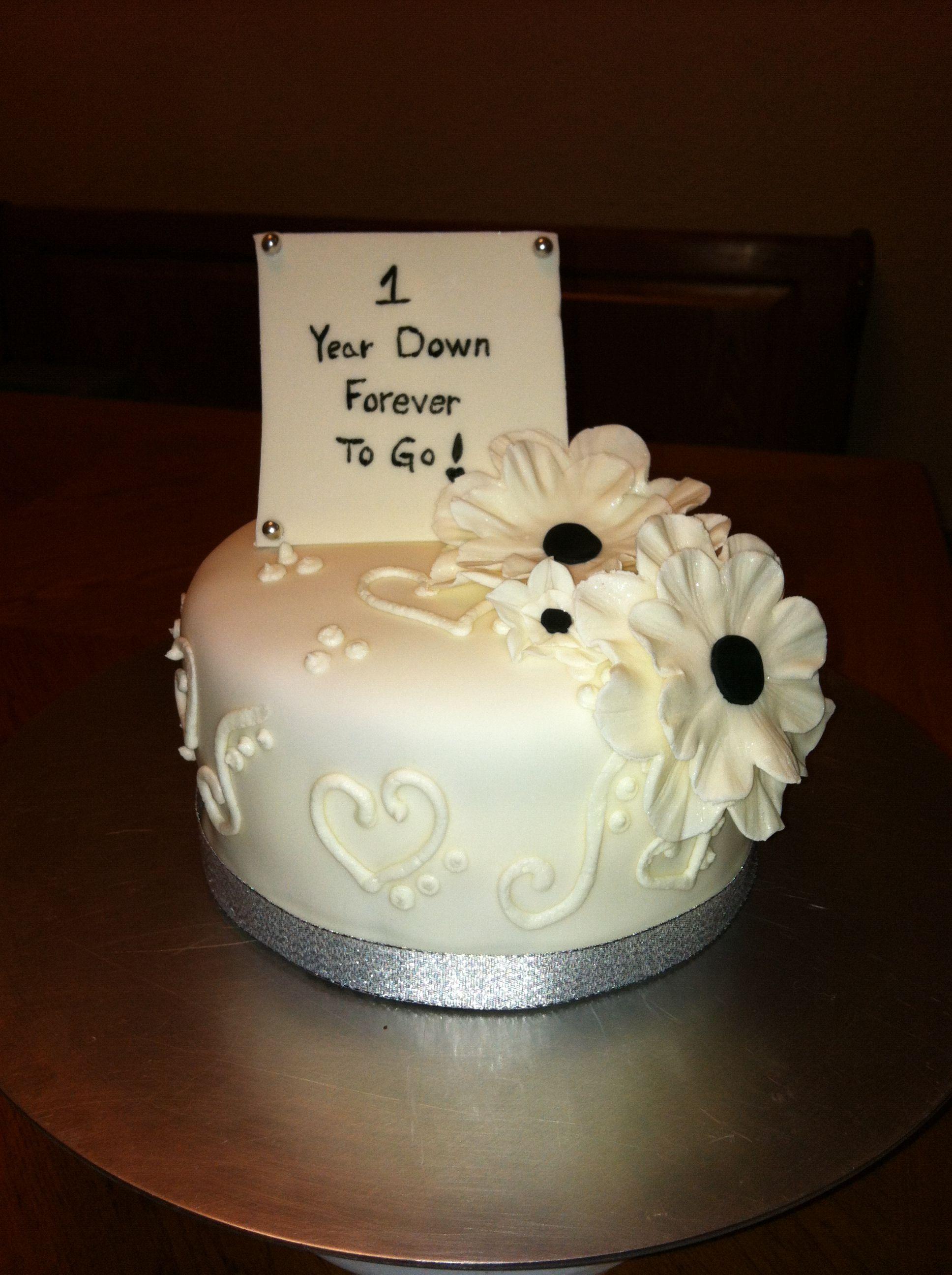 Happy 1st Anniversary Cake Marriage anniversary cake