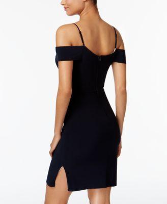 City Studios Juniors' Cold-Shoulder Bodycon Dress - Blue 15