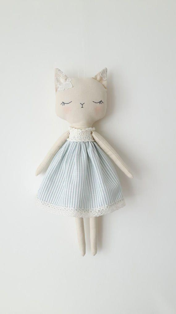 Fräulein+Kitty+handgemachte+Puppe+Katze+Katze+Puppe #dollcare
