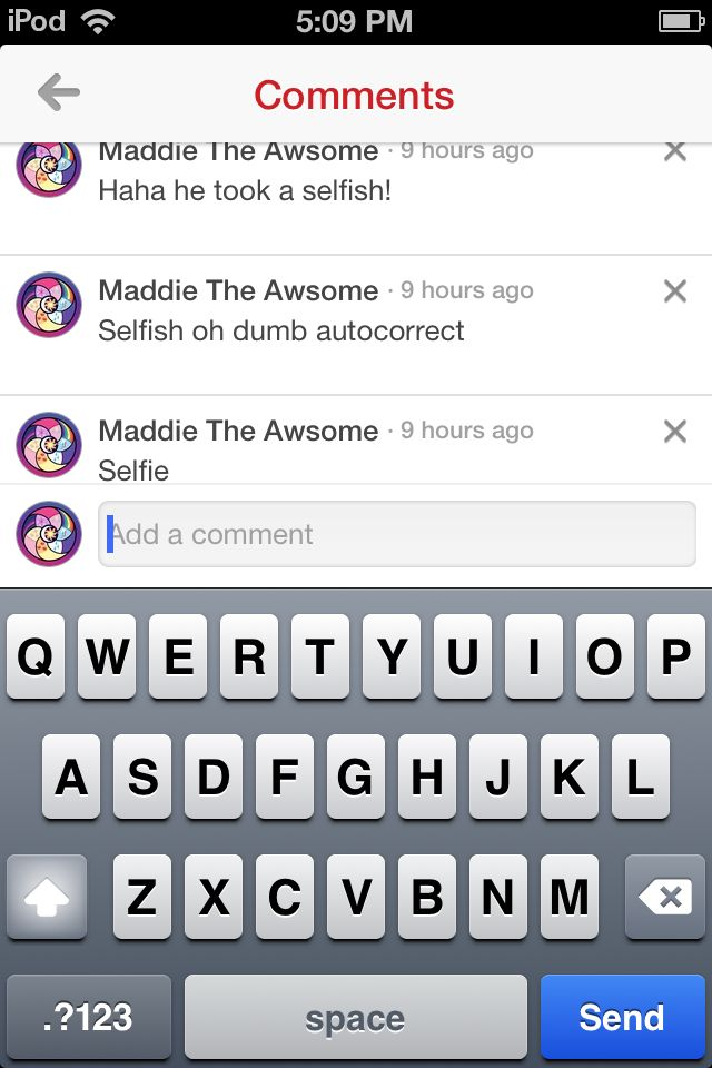 Autocorrect vs me, Maddie the Awsome Love you so much