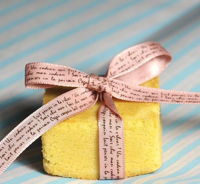 Hand Writing Style Gift Bow Ribbons