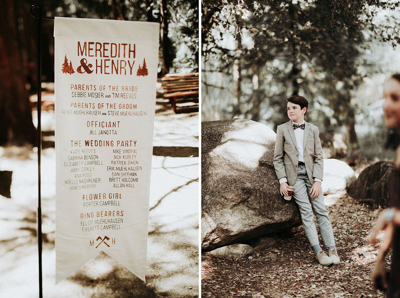 This Summer Camp Themed Wedding In The Woods Of Big Bear Is Filled