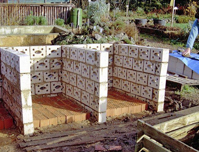 Bildergebnis f r komposter gemauert garten pinterest - Weinfass als gartenhaus ...