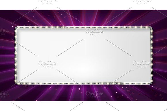 Set silver frame cinema by Aromeo on @creativemarket   Border and ...