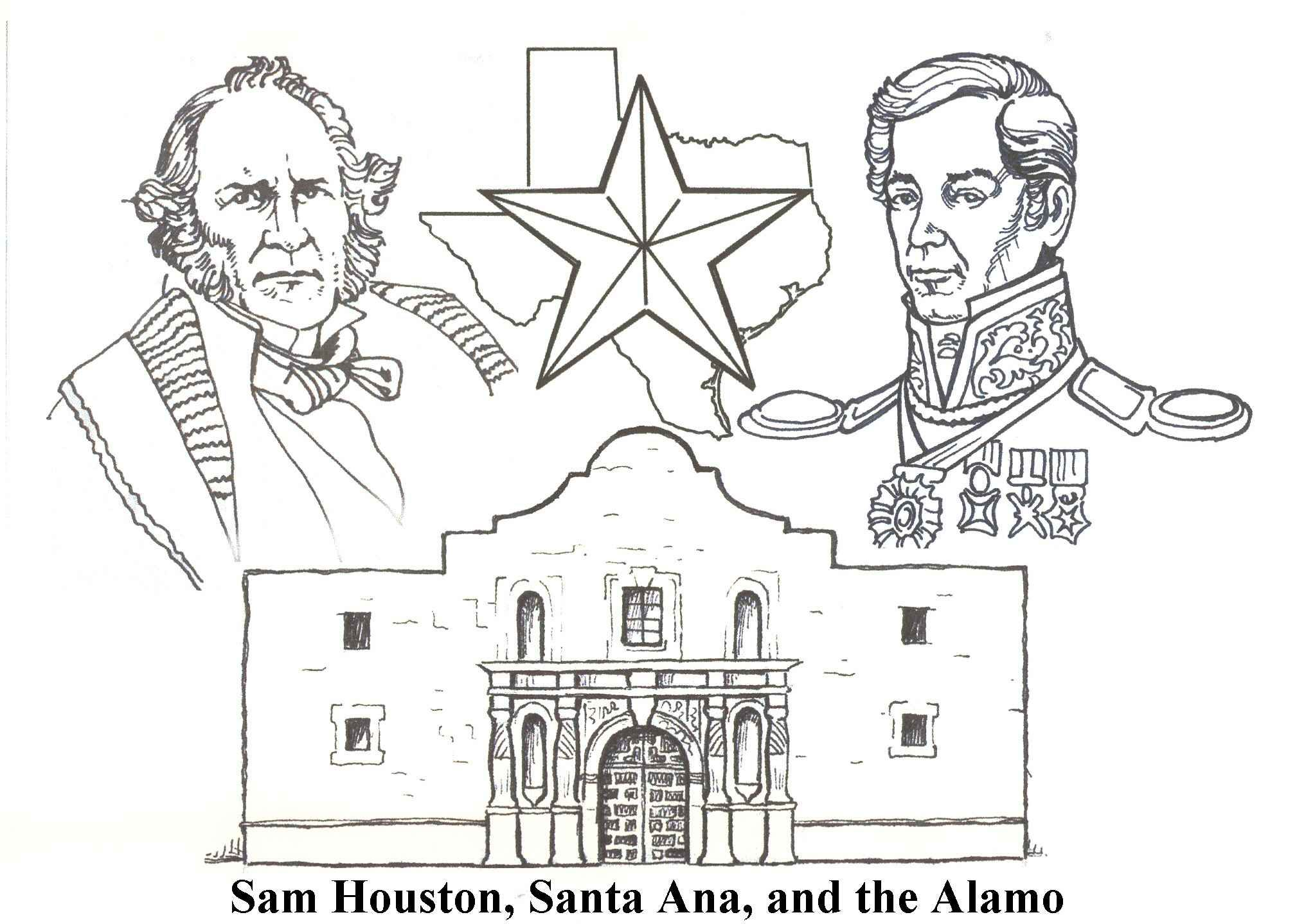 alamo battle coloring pages - photo#13