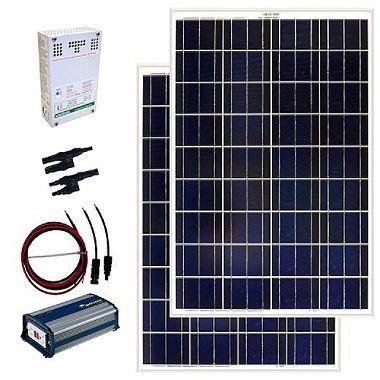 The Grape Solar 200 Watt Off Grid Pv Solar Power Kit Solar Power Kits Best Solar Panels Solar Kit