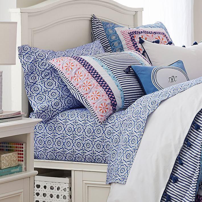 Greta Geo Sheet Set Designer Bed Sheets Bed Linen Design Girls