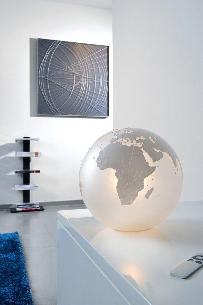 Eine Interessante Pendelleuchte Aus Glas Mit Dem Weltkartenmotiv Sompex Pendelleuchte Earth Moderne Lampen Tischleuchte Lampe