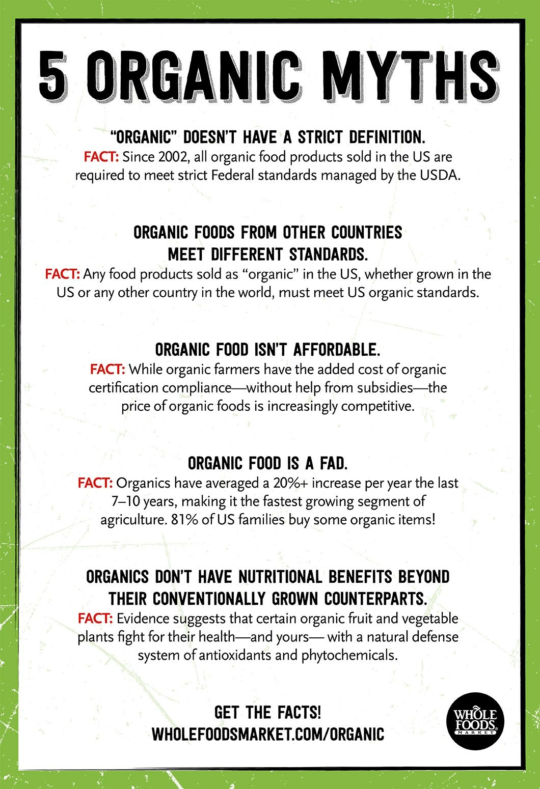 some common misconceptions or myths about organic food. -organic