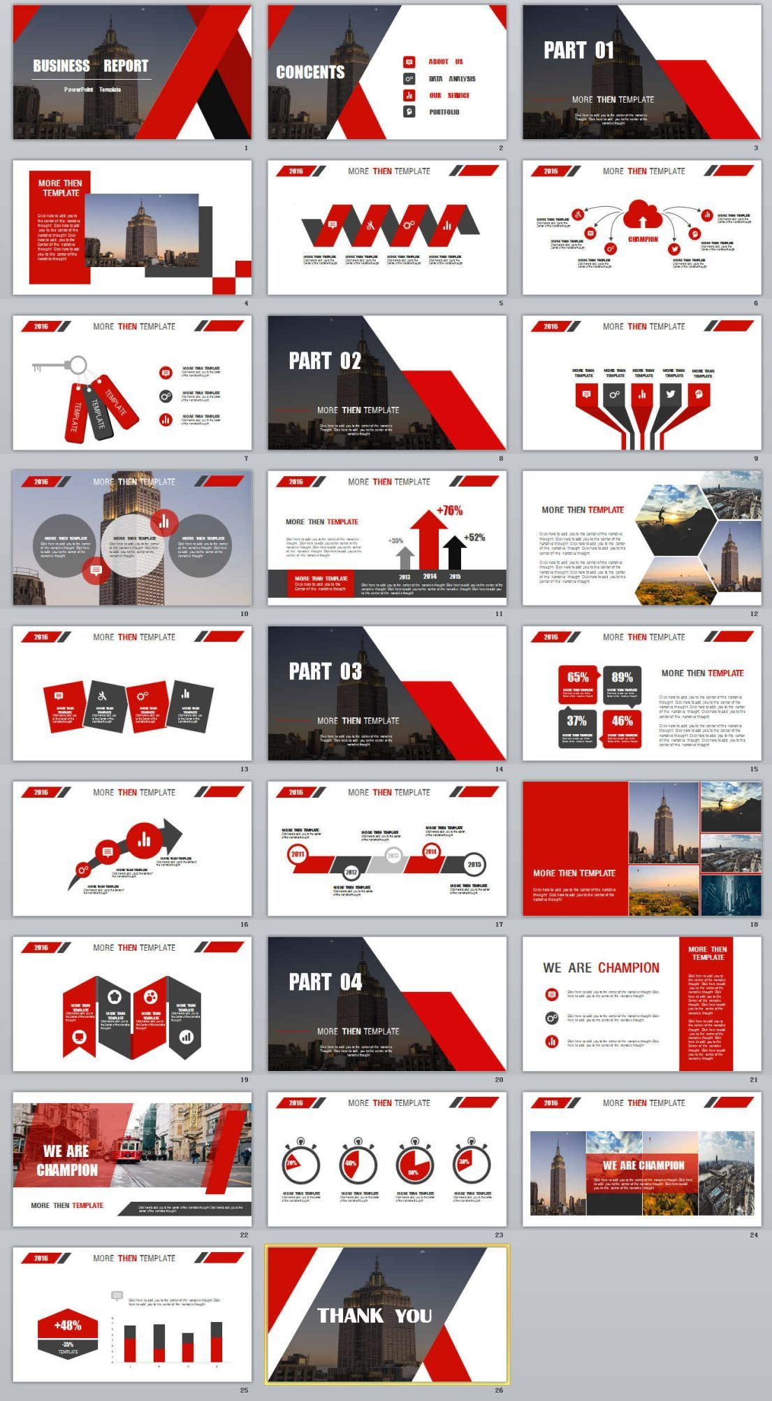 26+ Business report Powerpoint Templates