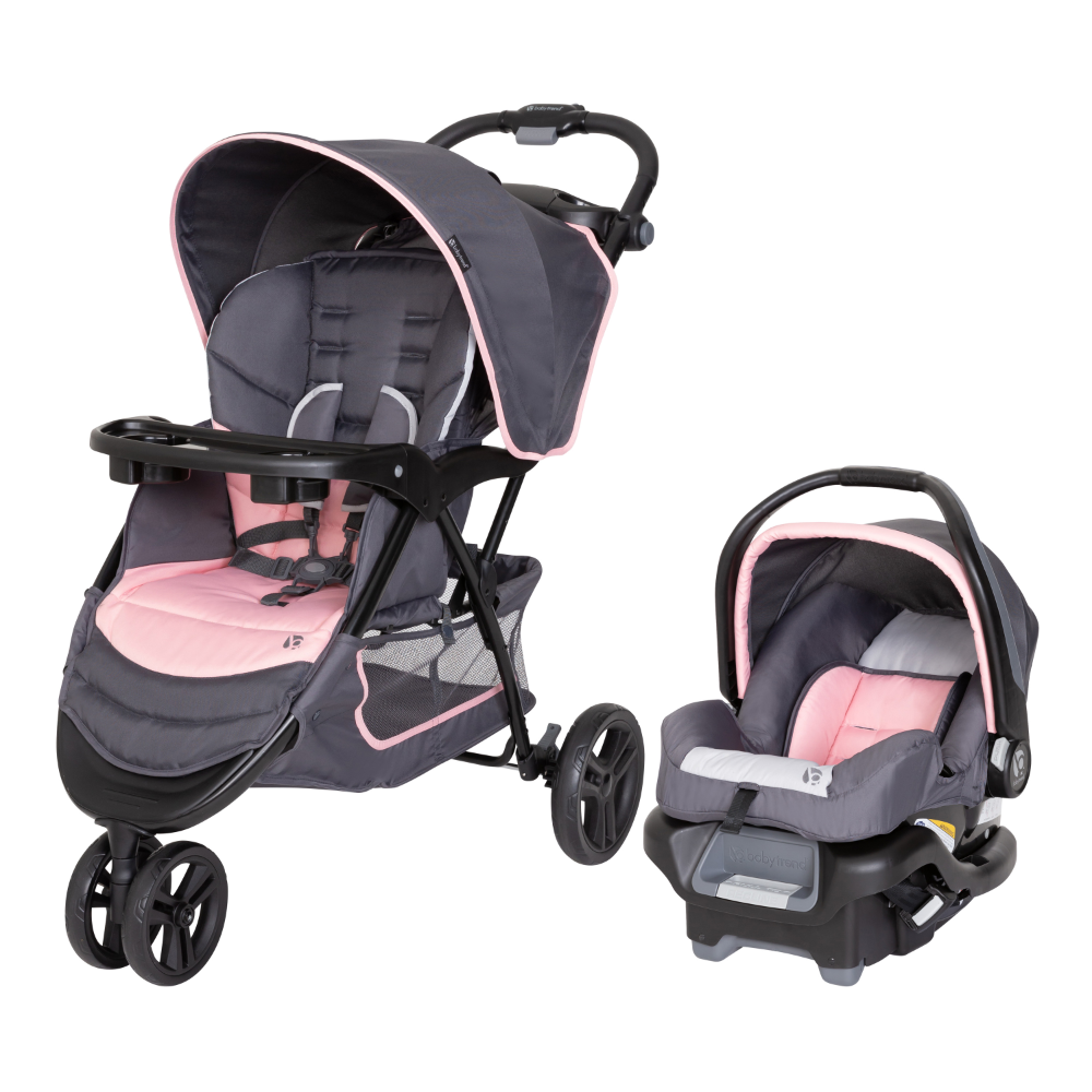 Baby Trend Flamingo EZ Ride Jogger Travel System, Flamingo