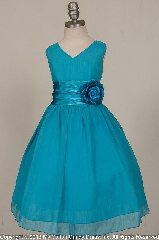 Turquoise Dresses For Girls | Aqua flower girl dress ...