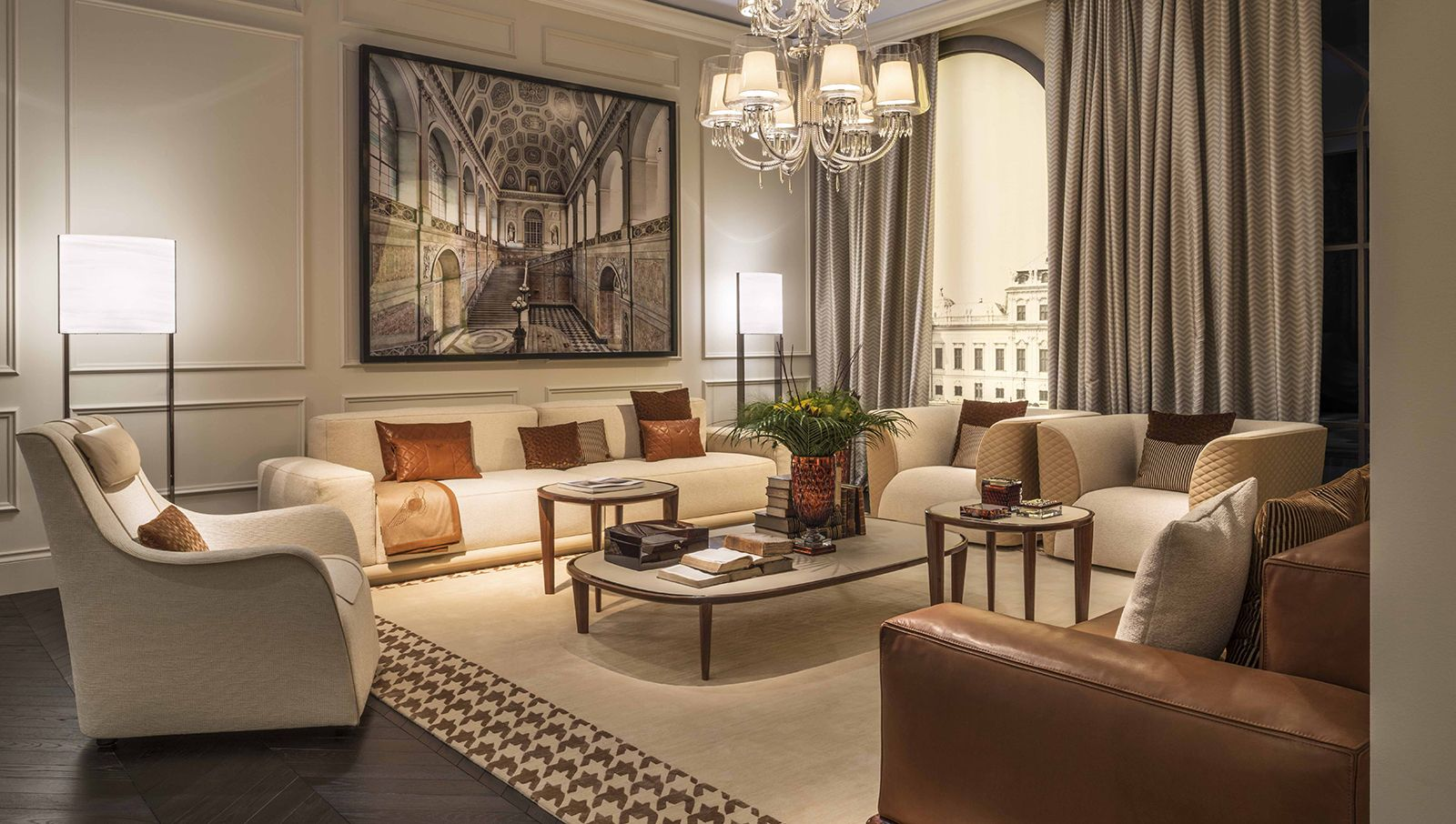 Bentley home luxury and elegant livingroom design with - Luxury living room interior design ...