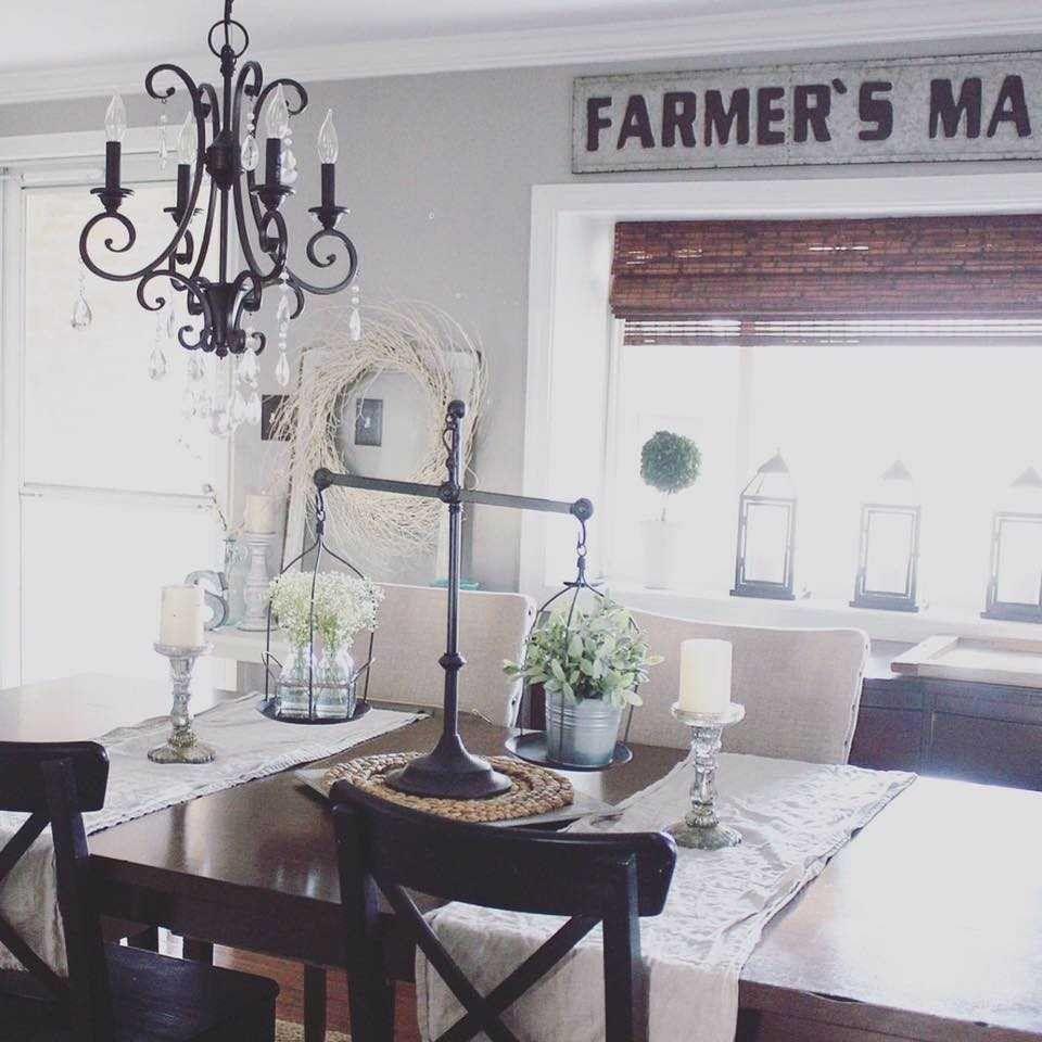2018 Farmhouse Dining Room Lighting