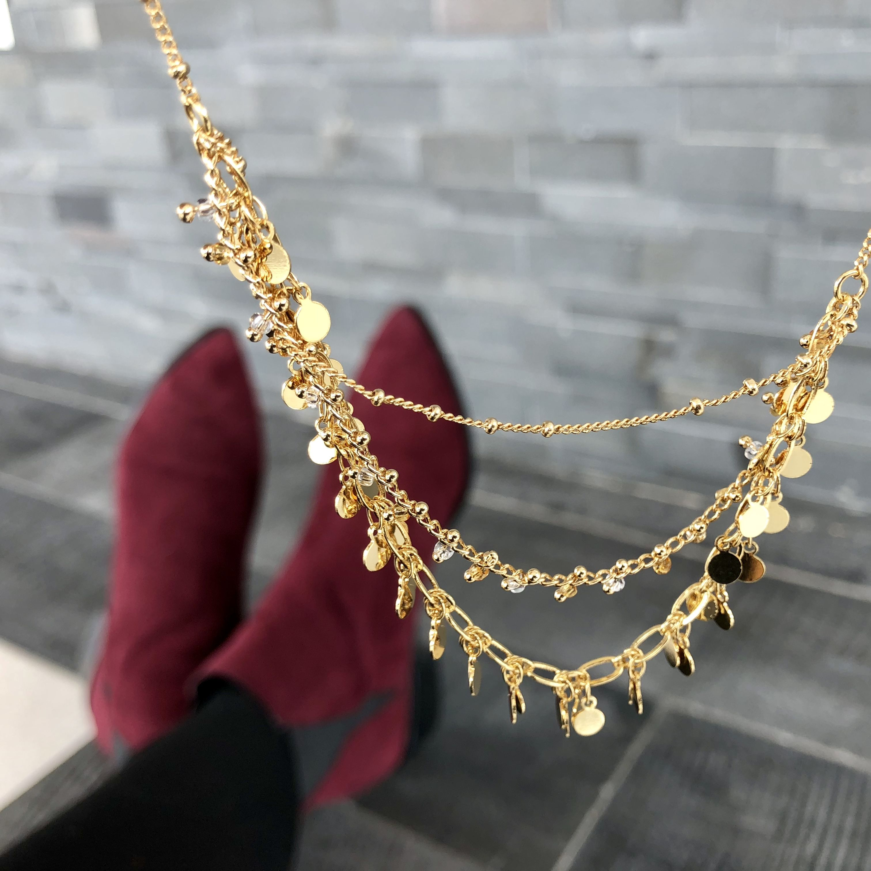 69bb84f116 Dipped in 14K gold, the adjustable Camilla statement necklace is truly  crafted to perfection.