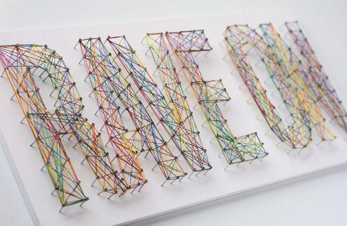 Make Typographic String Art