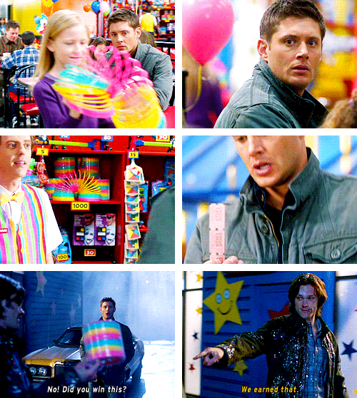 Dean and Sam in 'Plucky Pennywhistle's Magical Menagerie'