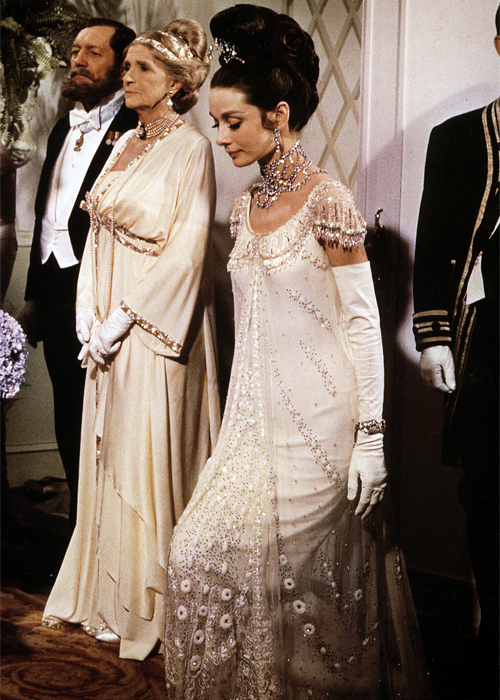 Audrey Hepburn as Eliza Doolittle in 'My Fair Lady' (1964). Costumes by Cecil Beaton.