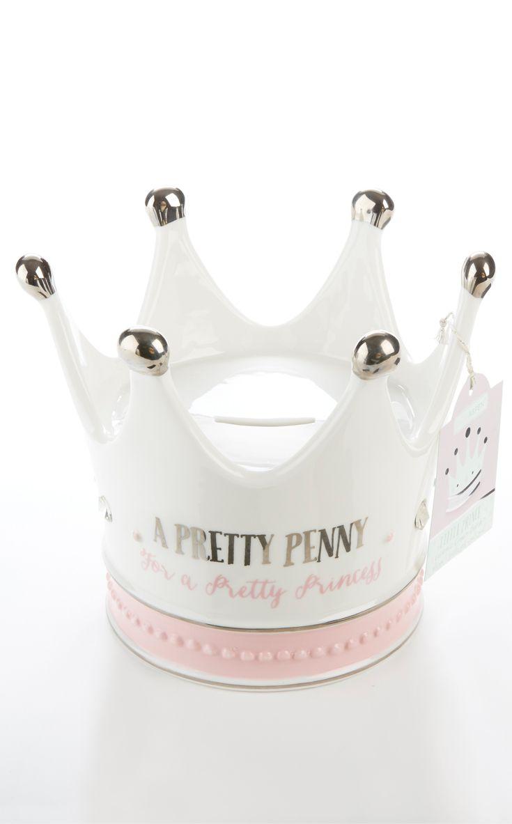 Little Princess Crown Porcelain Bank Keepsake Baby Gifts Little Princess Baby Girl Gifts