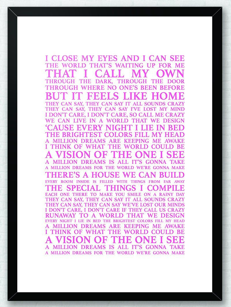 graphic about A Million Dreams Lyrics Printable named A Million Wishes The Most important Showman Lyrics Tune Lyrics