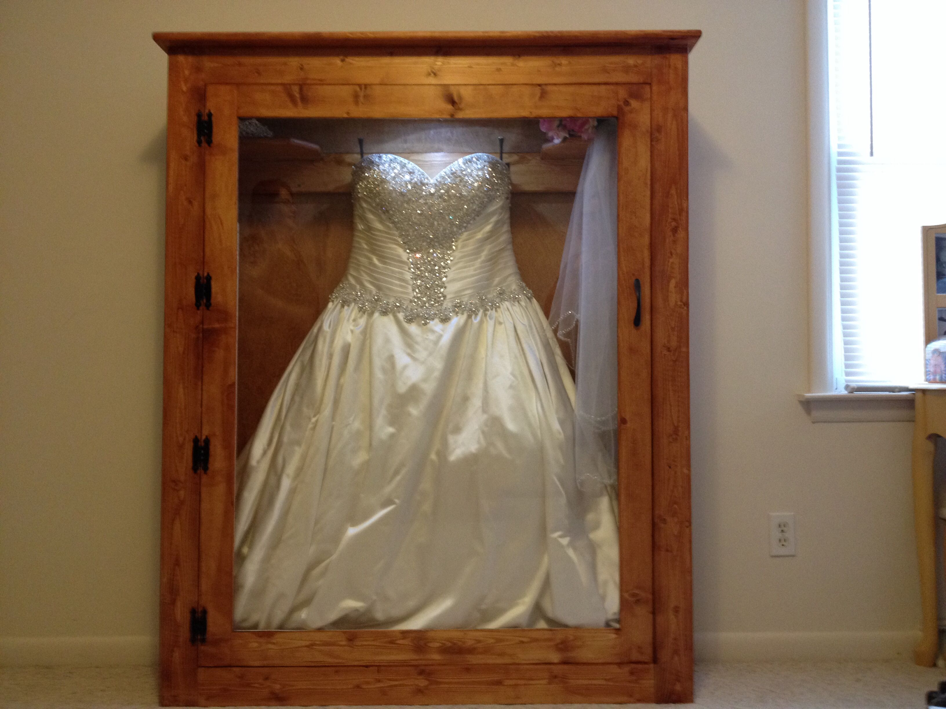 Best Christmas Gift Ever My Husband Made Me A Shadow Box For My Wedding  Dress:) So In Love