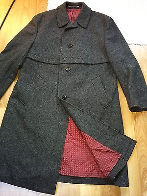 81431b679bb2c German loden mens hunting wool trachten military winter trench coat jacket  XL