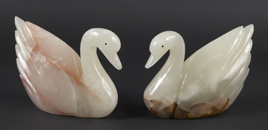 Onyx Swans Pair Call Stara D' Arts at 949.376.9800 for Price & More Information or email staradart@gmail.com.