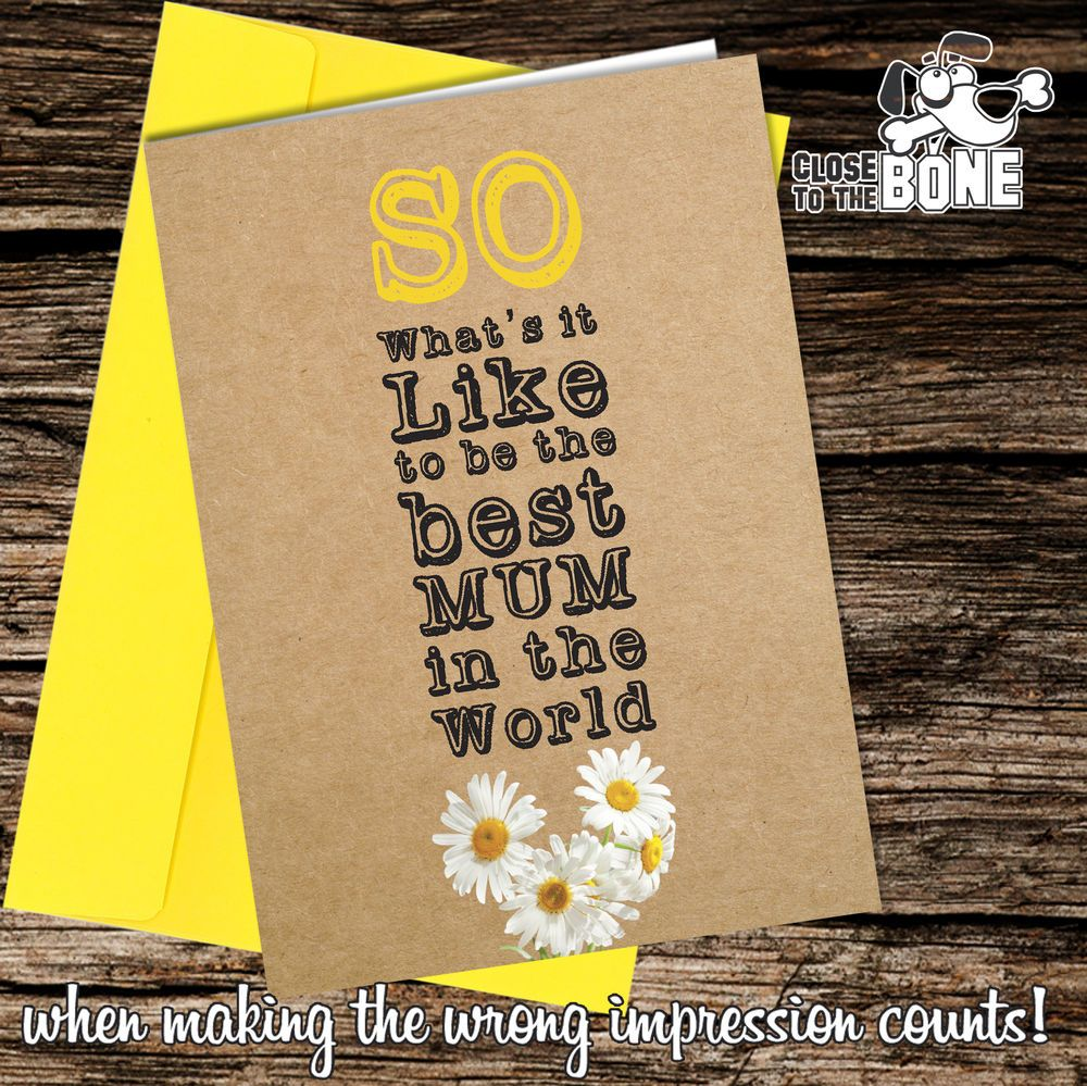 #121 Best MUM in the World MOTHERS DAY / BIRTHDAY Card Funny Humour Mother's Day  | eBay