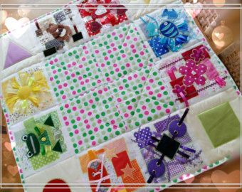 Stoff Farben Baby Block beschäftigt Block von ViktoriyaDesvarreux