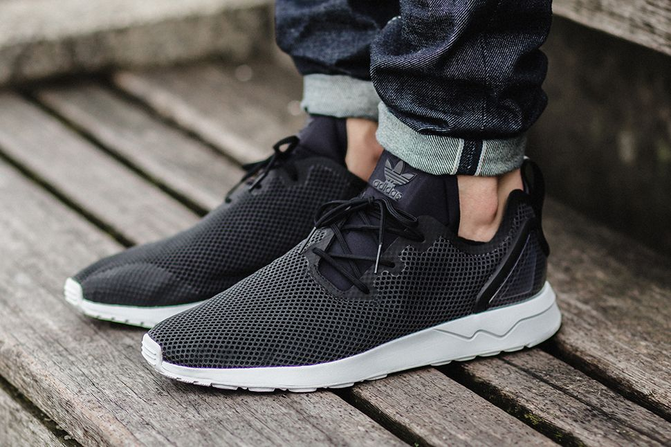 adidas ZX Flux Shoes Grey/White Zando