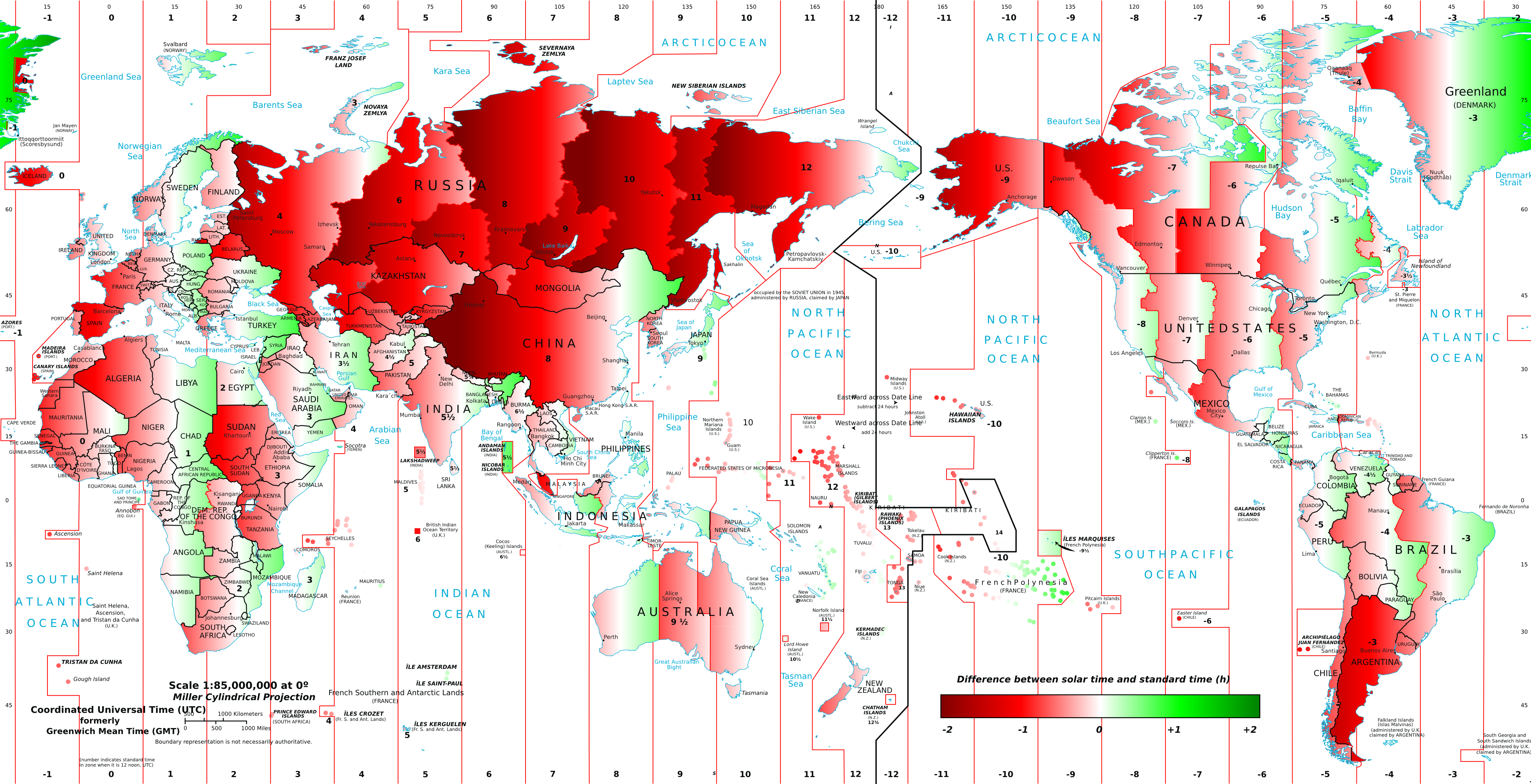 Map How Wrong Is Your Time Zone Solar Time And Infographics - Us time zone map with times