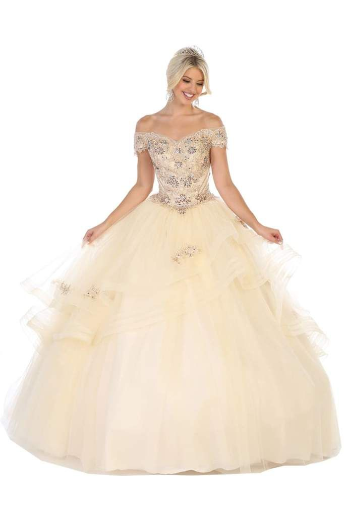 Off-Shoulder Masquerade Ball Gown #masqueradeballgowns
