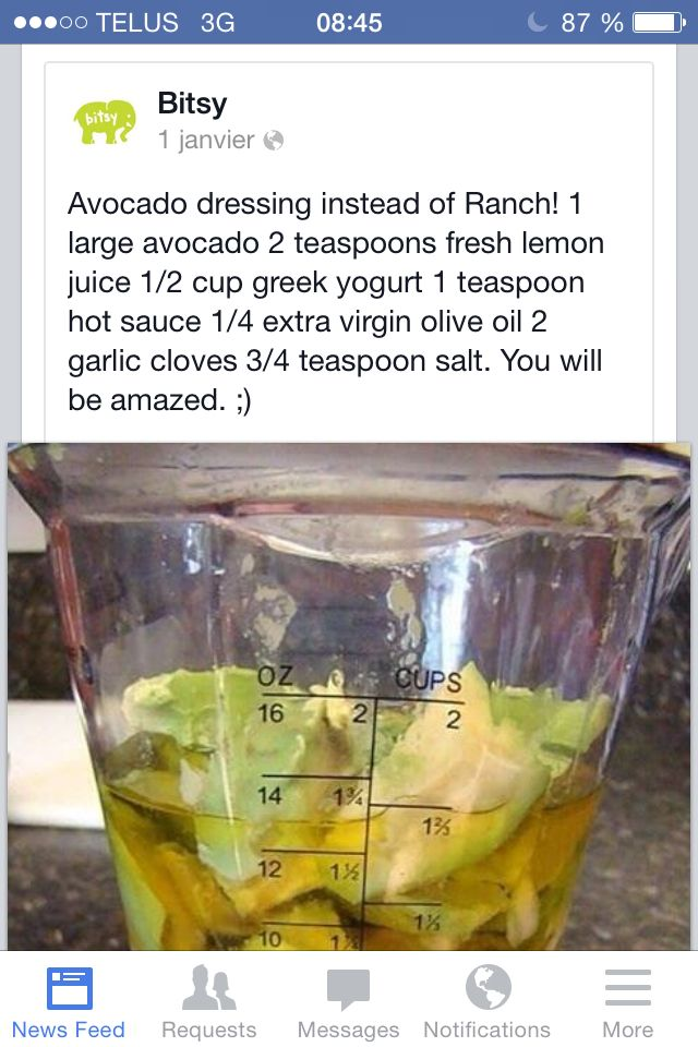 Avocado dressing!