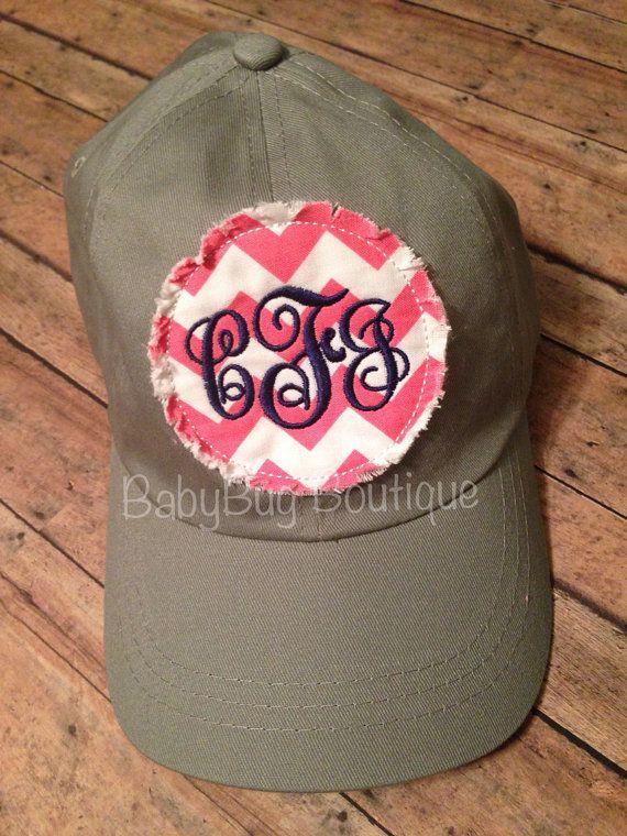 2543b45a3ad5a Ladies Monogrammed Ball Cap Sorority Women Customized